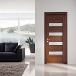 Solid wood doors with glass make the room's look more sophisticated and refined