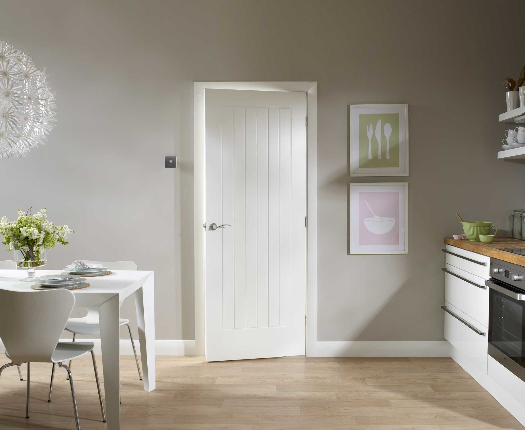 Solid Wood Interior Doors White Make Any Room Visually Bigger And