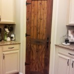 : Solid wood rustic interior doors look so authentic in country style rooms