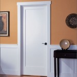 : Solid wood shaker style interior doors are popular