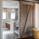 : Soundproof interior barn doors are great for rustic styles