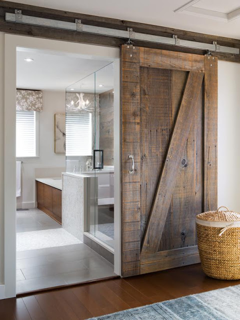 Soundproof interior barn doors are great for rustic styles