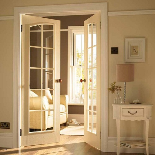 Soundproof interior glass door can be transparent of etched