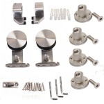 : Stainless steel barn door hardware is very durable