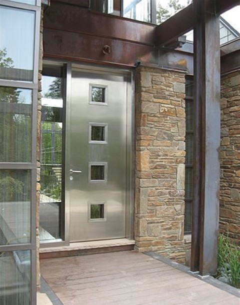 Steel entry doors are ideal for residential houses