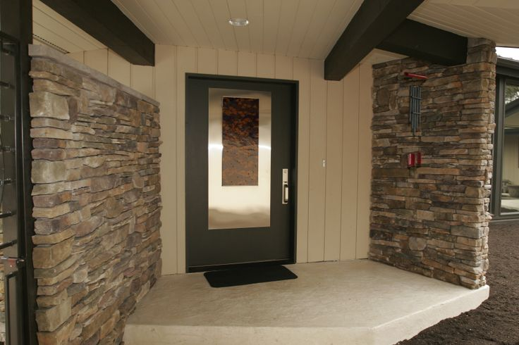 Steel entry doors with glass look stylish