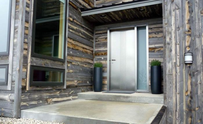 Steel entry doors with sidelights maximize outside view