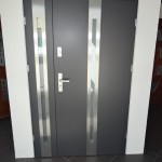 : Steel entry doors with sidelites create a great barrier to outside noises