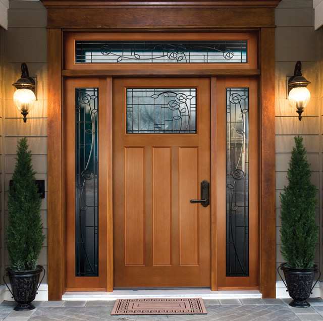 Steel front entry doors with sidelights are durable and safe