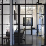 : Steel interior doors with glass are good for offices