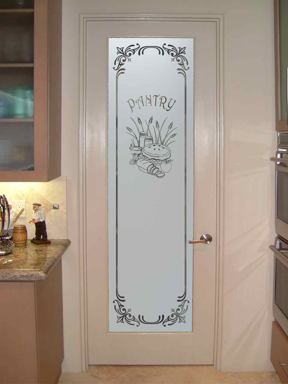Tempered frosted glass interior door is marvelous
