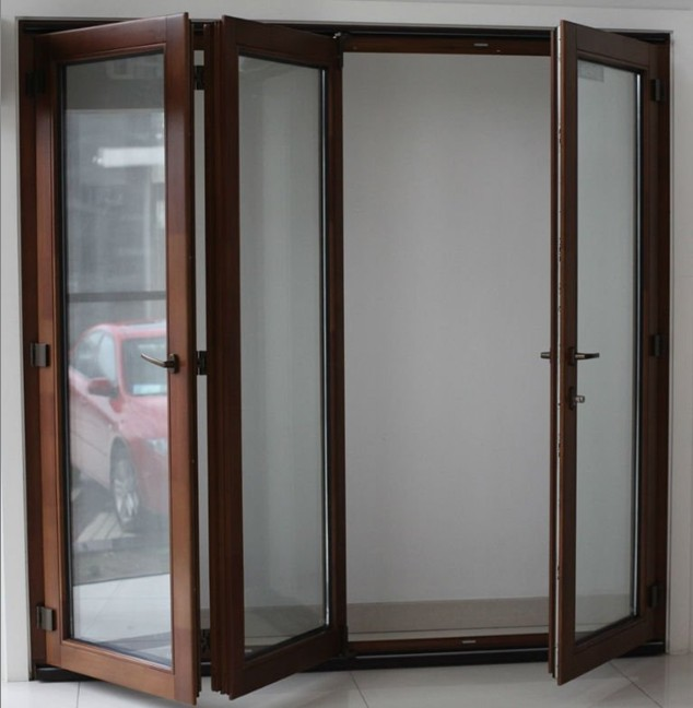 Exterior folding glass patio doors add more light to your house ...