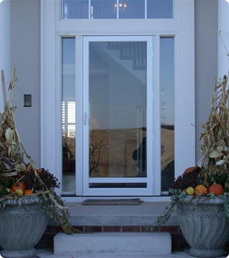 Unfinished wood storm doors leave the chance to use your fantasy