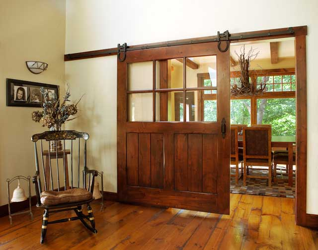Unique interior French doors have distinctive elegant features