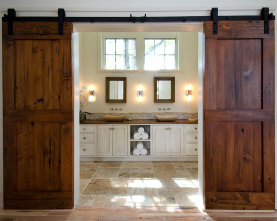 Unique interior bathroom doors a presented in various options