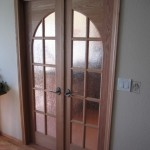 : Unique interior glass doors will make your place look custom