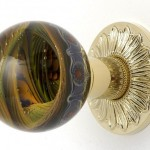 Unusual interior door knobs can be made of different materials