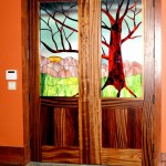 : Unusual interior doors can have custom ornaments