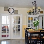 : Vintage interior French doors may bring some noble and aristocratic spirit