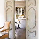 : Vintage interior sliding doors present the combination of pretentious design and modern techniques