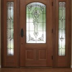 : Vintage interior wood doors may be decorated with carving and glass inserts