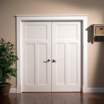 : White shaker style internal doors is ideal in mission styled room