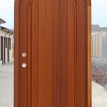 : Wood arched front doors are admittedly called the best looking doors