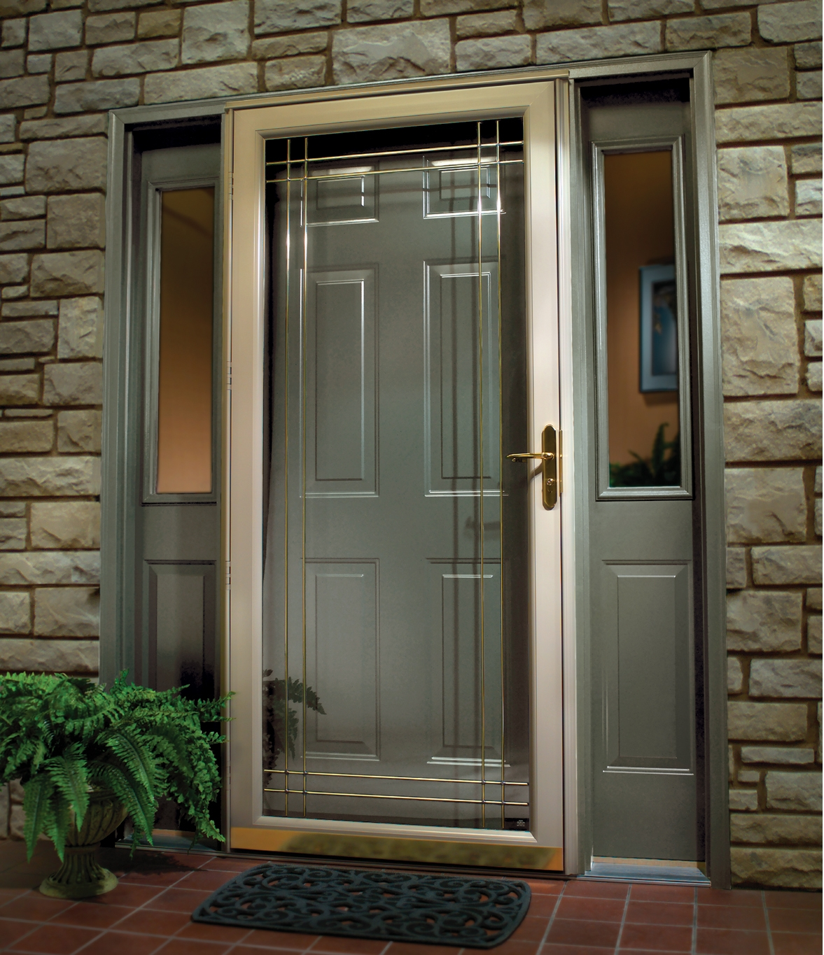 Wood storm doors with glass will protect your house
