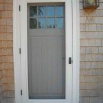 : Wood storm doors with screens guarantee your safeness in the house