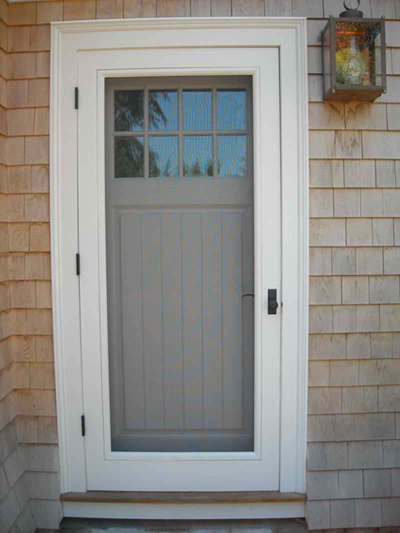 Wood storm doors with screens guarantee your safeness in the house