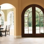 : Wooden arched entry doors are considered to be flawless way to adorn