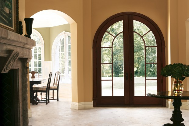 Wooden arched entry doors are considered to be flawless way to adorn