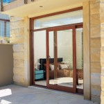 : Wooden screen doors with glass are designed to protect your household