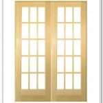: 30 x 80 interior French door provides more light to the room it is installed in