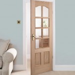 : 30 x 80 interior door with glass are chosen often for living rooms in modern style