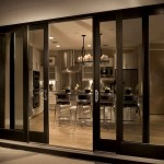 : 4 panel interior door with glass can be installed in a country style living room