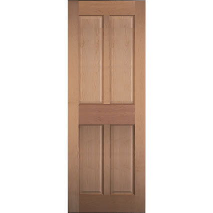 4 panel maple interior doors look nicer if they are not painted