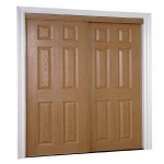 : 6 panel interior door slabs with textured surface