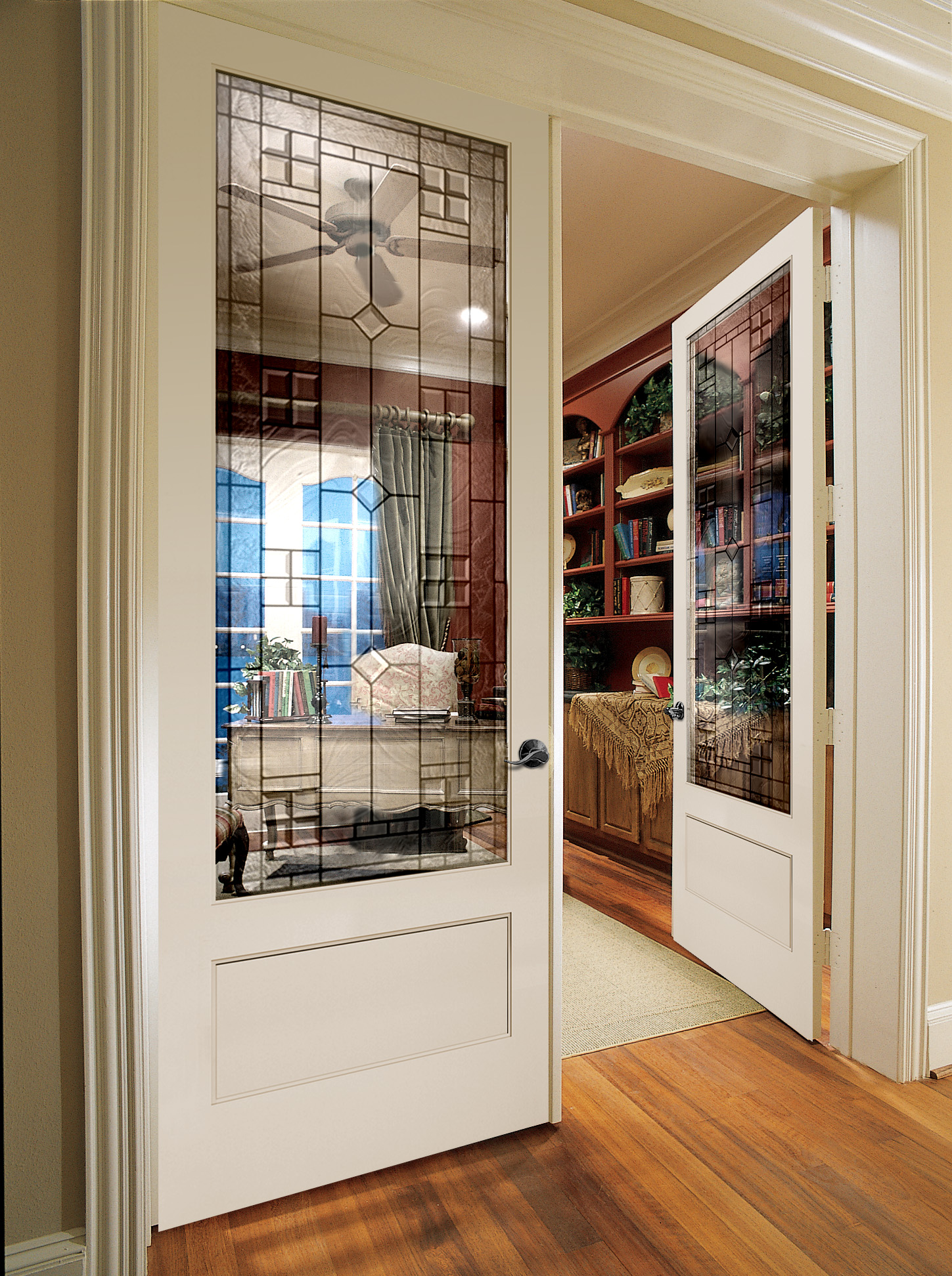 8 foot interior French doors design adds more light into the room the doors are installed in