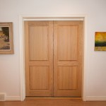 : 8 foot interior pocket door design looks better if the door is made from solid wood