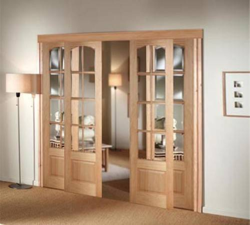 8 foot interior sliding doors create a welcoming atmosphere in your home