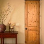 : 8 foot knotty alder interior doors will become the perfect decor in a rustic home