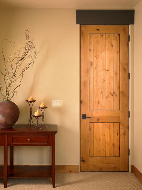 8 foot knotty alder interior doors will become the perfect decor in a rustic home