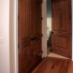 : 8 foot solid interior doors made from oak or cherry look stunning
