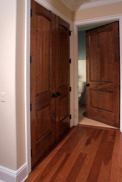 8 foot solid interior doors made from oak or cherry look stunning