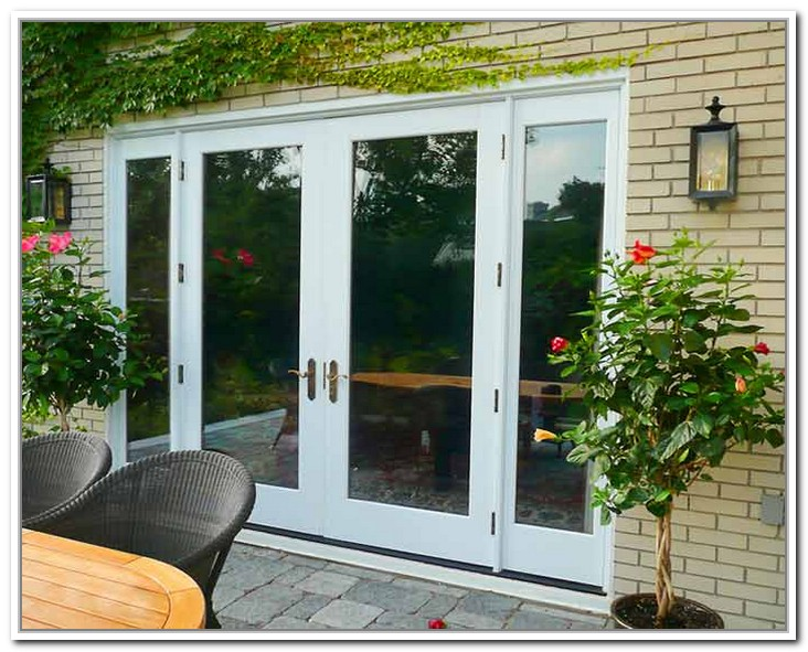 8 foot wide interior French doors add maximum light to the room ...
