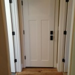 : Craftsman interior doors in mission style have original elements of decoration