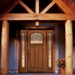 : Decorative exterior front doors look advantageously