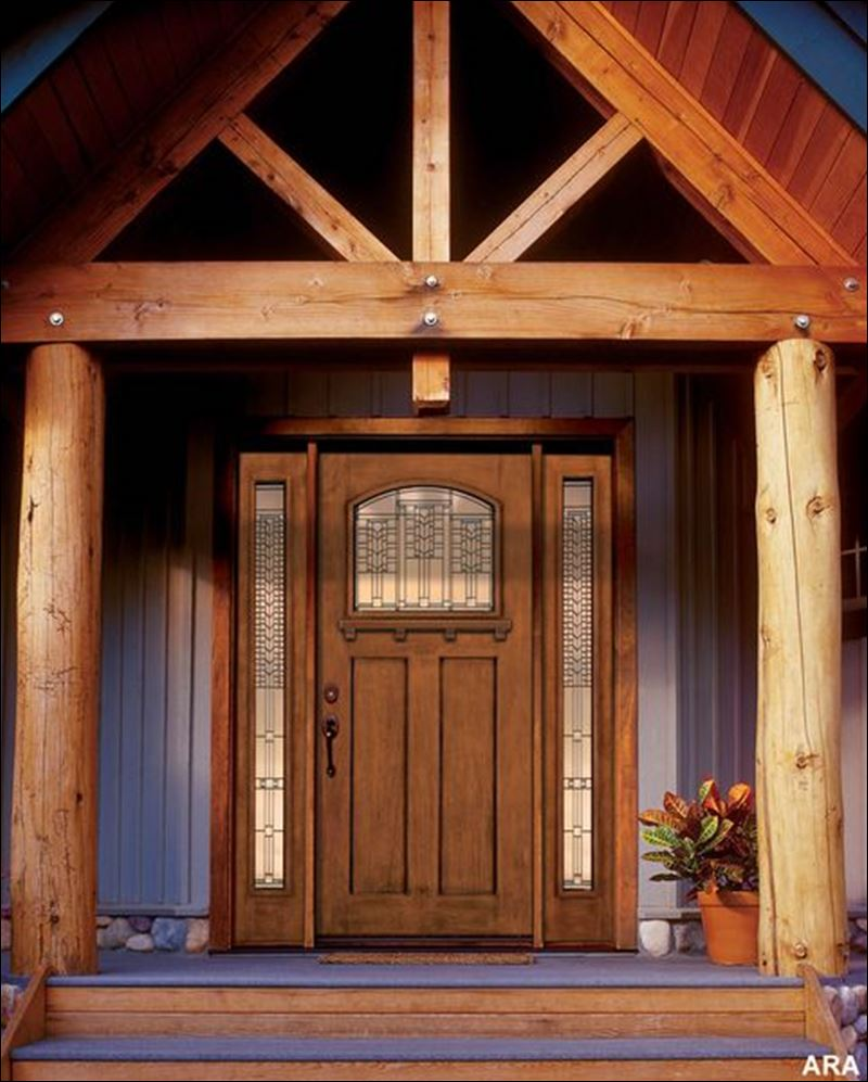 Decorative exterior front doors look advantageously