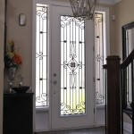 : Decorative front door glass inserts are widely used in houses